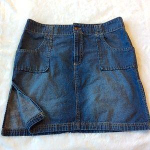 Old Navy Denim Skirt 16 Blue Jean XL Side Slits
